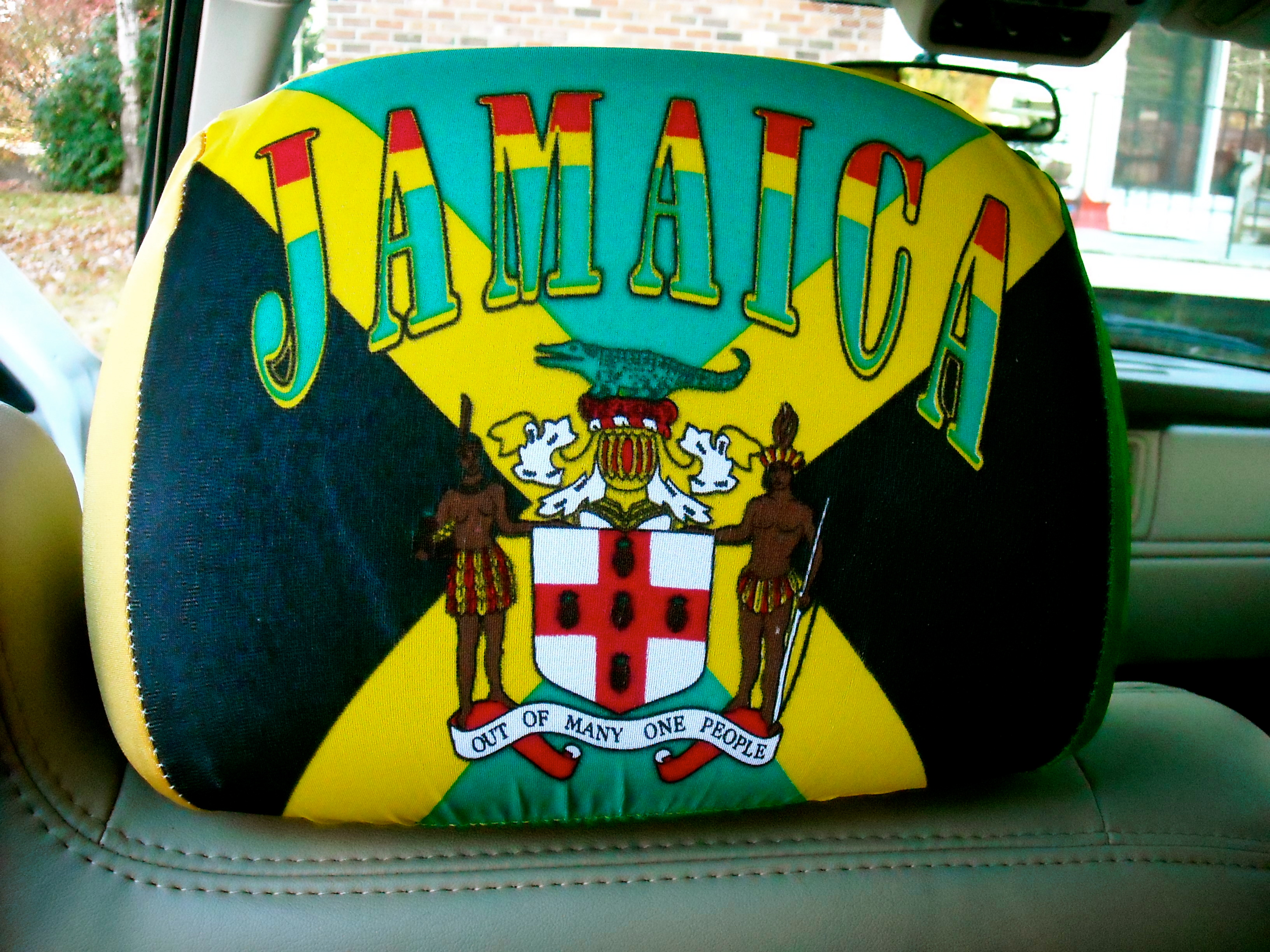 Jamaica Pride Flag Headrest Covers 10 Set Of Two